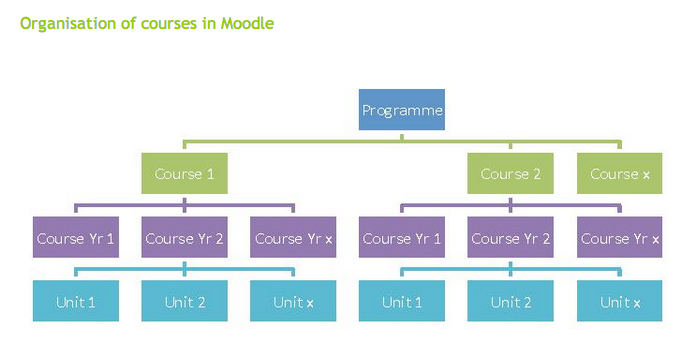 Moodle Course Organisation
