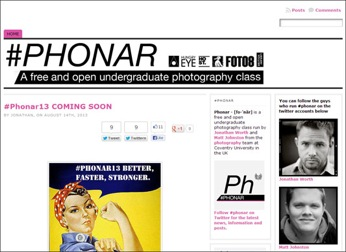 #Phonar - Open photography project at Coventry University