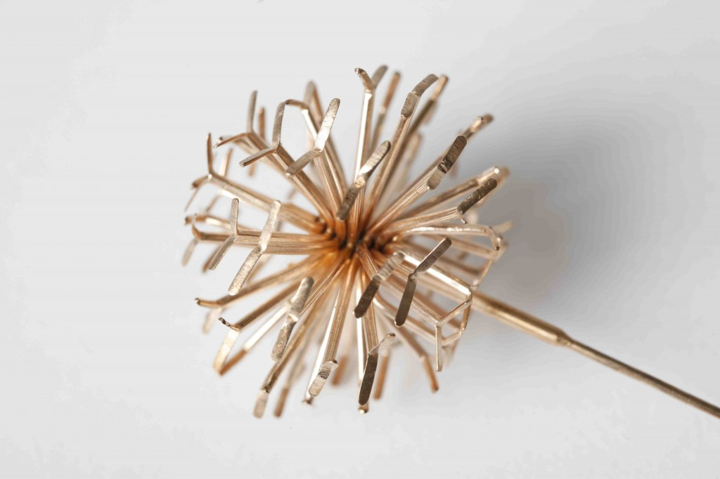 Dandelion Rose Gold by Hazel Clucas, silver and rose gold, 2006