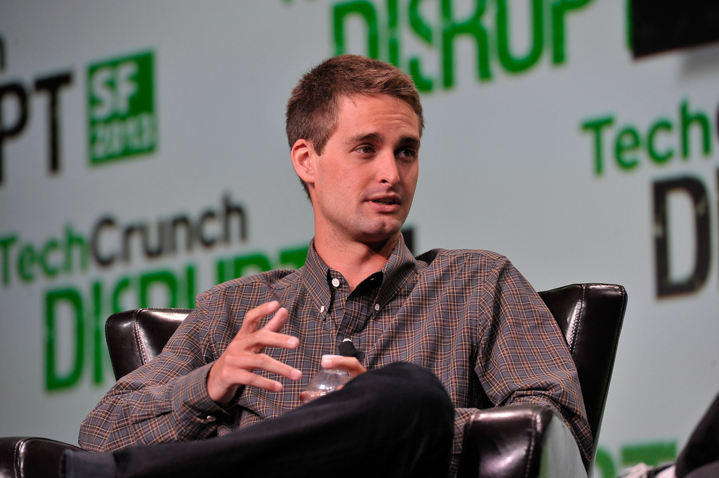 Evan Spiegel, co-founder of Snapchat Image by http://techcrunch.com/ on Flickr