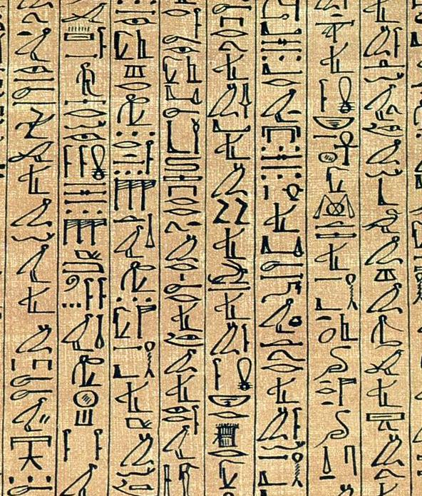 Cursive hieroglyphs from the Papyrus of Ani, an example of the Egyptian Book of the Dead Bridgeman Art Library v. Corel Corp.