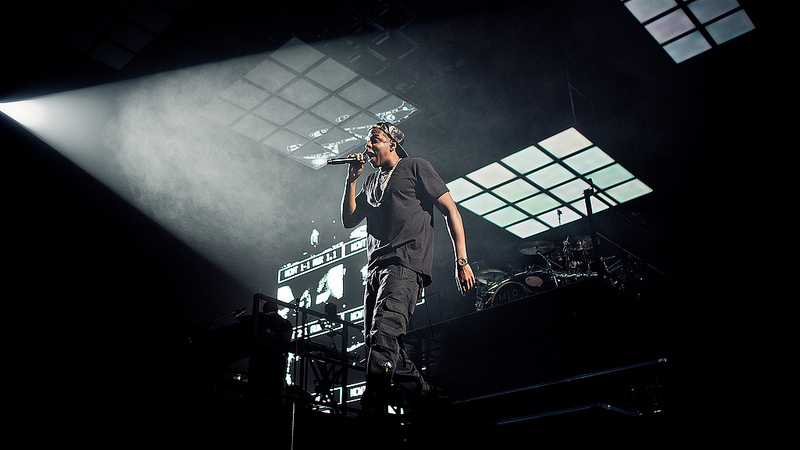 Jay-Z on stage. Creative Commons https://www.flickr.com/photos/nrk-p3/10448266976/in/photostream/