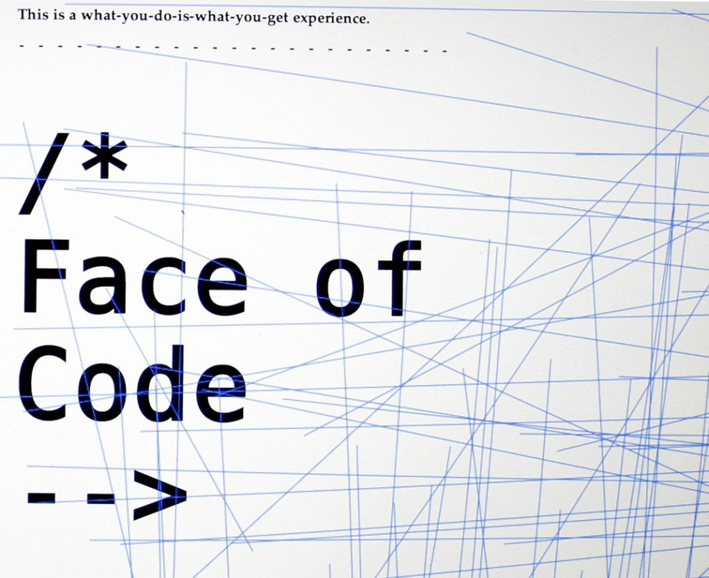 The Face of code - Timothy Robert Klofski