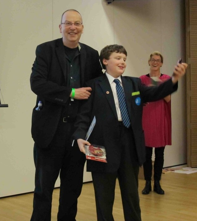Peter awards Jack the 'Future Generation of Teaching' award at Fab Finale!