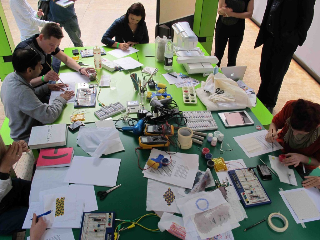 Ghack lead a fantastic set of circuitry and embroidery workshops